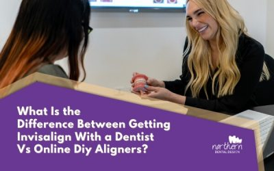 What is the difference between getting Invisalign with a dentist vs online DIY aligners?