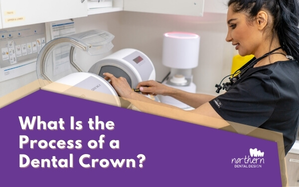 What is the process of a dental crown procedure?